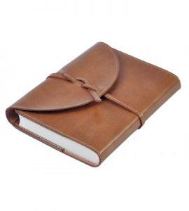 A6 - Vintage Notebook tied with lays - Tan