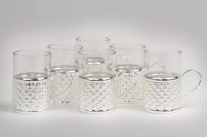 GI1055 Silver Plated Cup Set of 6 – Home Decor