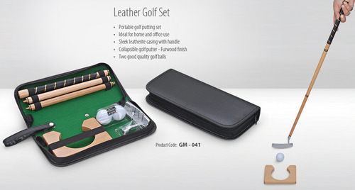 Leather Indoor Golf Set