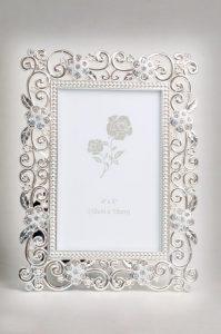 PF1087 - Luxury Swarovski Crystal Silver Plated Photo Frame – 4x6