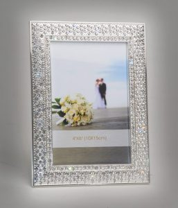 PF1091 - Glitz and Glamour Silver Plated Crystal Photo Frame 10x6