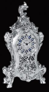 WC1013 - Tulip Vintage Silver Clock from Italy