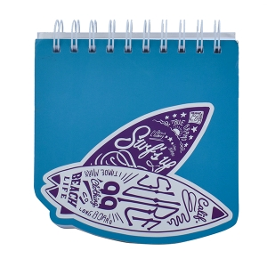 Surfing Board Blue Notebook - A5 Size