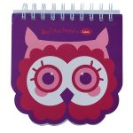 Owl Face Purple Notebook - A5 Size
