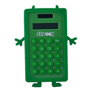 Fancy Mini Silicon Calculator - Green