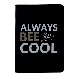 Always Bee Cool - A5 Perfect Bound PU Leatherite Cover Notebook Inspirational / Motivational Quote Printed / Designer Covers Combined With Ruled Sheets Notebook for Personal Notes, Office Diary, School Book, College Notes