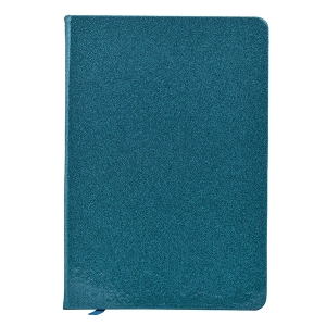 A5 Size Glitter Cover Notebook Diary - Teal