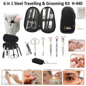 6 in 1 Steel & Grooming Kit H-440