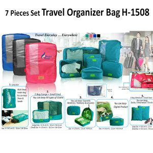 7 Pcs Set Travel Organizer Bag 1508