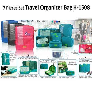 7 Pcs Set Travel Organizer Bag 1508