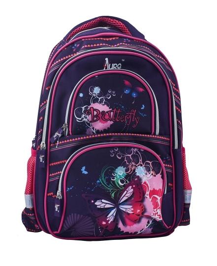 Butterfly Design Purple School Bag for Pre-School / Nursery / Play