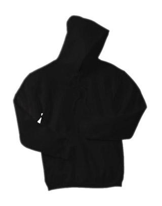 Sweat Shirt With Hood & Pocket - Black