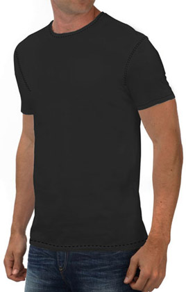 Round Neck Promotional Tshirt - Black