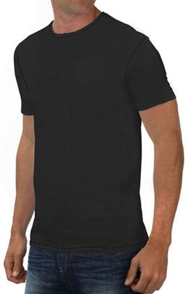 Round Neck Promotional Tshirt - Black