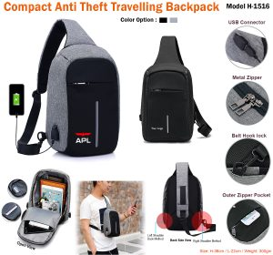 Compact Anti Theft Travelling Backpack H-1516