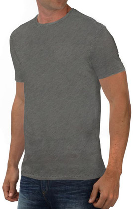 Round Neck Promotional Tshirt - Grey Heather