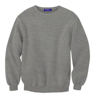 Rib Neck Sweat Shirt - Grey Heather