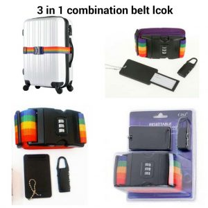 Luggage Belt with Combination Lock
