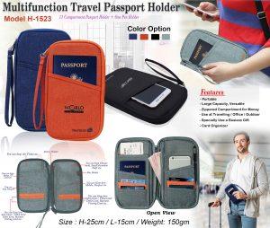 Multi Function Travel Passport Holder H-1523