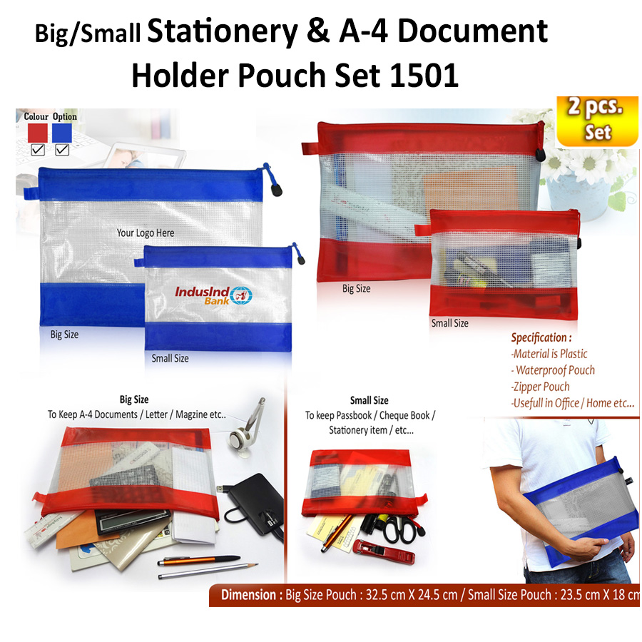 Stationery, Documents, Ticket Holder Pouch Set H-1501