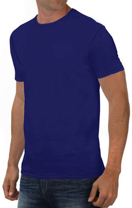Round Neck Promotional Tshirt - Royal Blue