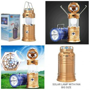 Solar Lamp with Fan
