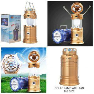 Solar Lamp with Fan