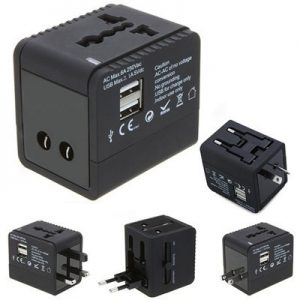 Travel Adapter B SQ with USB