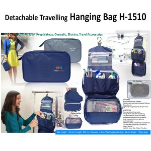 Travel Hanging Bag cum Detachable Pouch H-1510