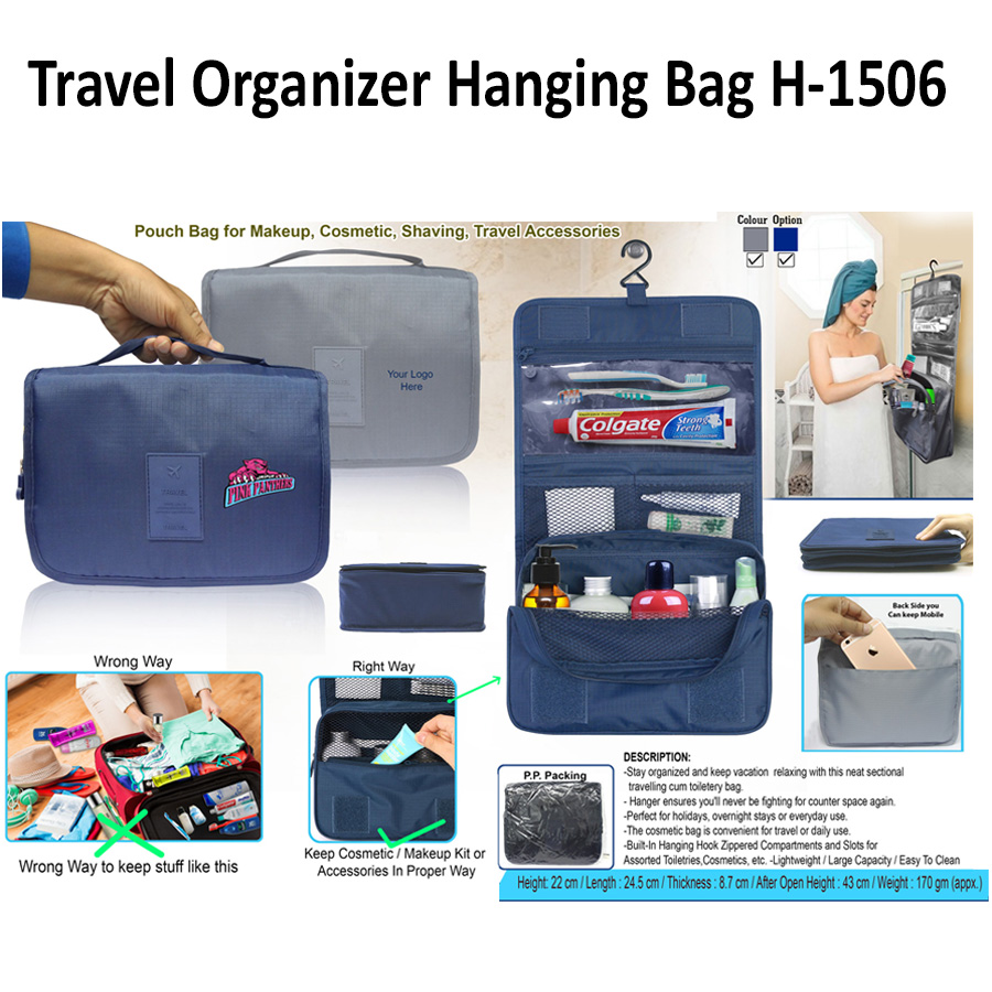 Travel Hanging Bag cum Pouch H-1506