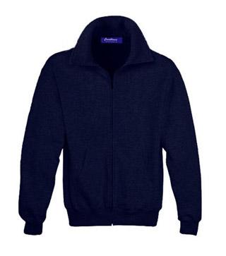 Sweat Shirt With Collar & Zip - True Navy