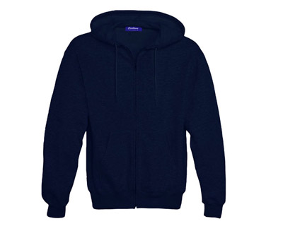 Sweat Shirt With Hood & Pocket - True Navy
