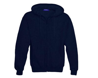 Sweat Shirt With Hood & Pocket - True Navy