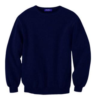 Rib Neck Sweat Shirt - True Navy