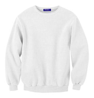 Rib Neck Sweat Shirt - White