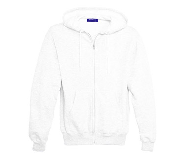 Sweat Shirt With Hood & Pocket - White