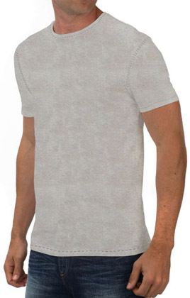 Round Neck Promotional Tshirt - White Heather