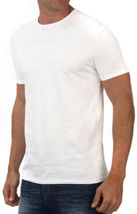 Round Neck Promotional Tshirt - White