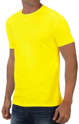 Round Neck Promotional Tshirt - Yellow