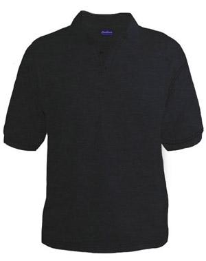 Polo T-Shirt - Black Melange