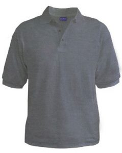 Polo T-Shirt - Grey Heather