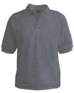Polo T-Shirt - Grey Heather