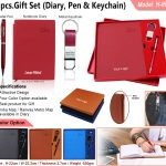 3Pcs Gift Set Diary Pen Keychain H-909