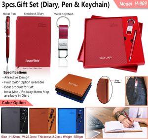 3Pcs Gift Set Diary Pen Keychain H-909