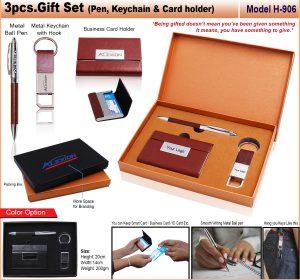 3pcs GIFT SET Pen keychain Card Holder Model H-906