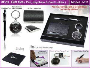 3pcs GIFT SET Pen keychain Card Holder Model H-911