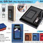 3pcs Gift Set Pen Keychain Diary H-908