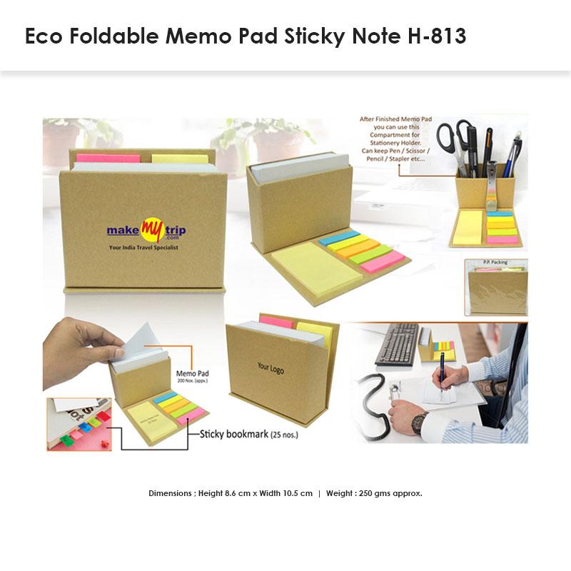 Foldable Memo Sticky Pad H-813
