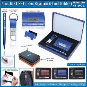 3pcs GIFT SET(Pen,keychain & Card Holder) Model H-901