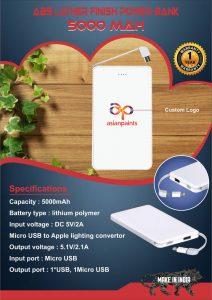 Powerbank 5000 mah White